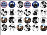 24 x Blues Brothers  Wafer Rice Paper Cake Top Toppers